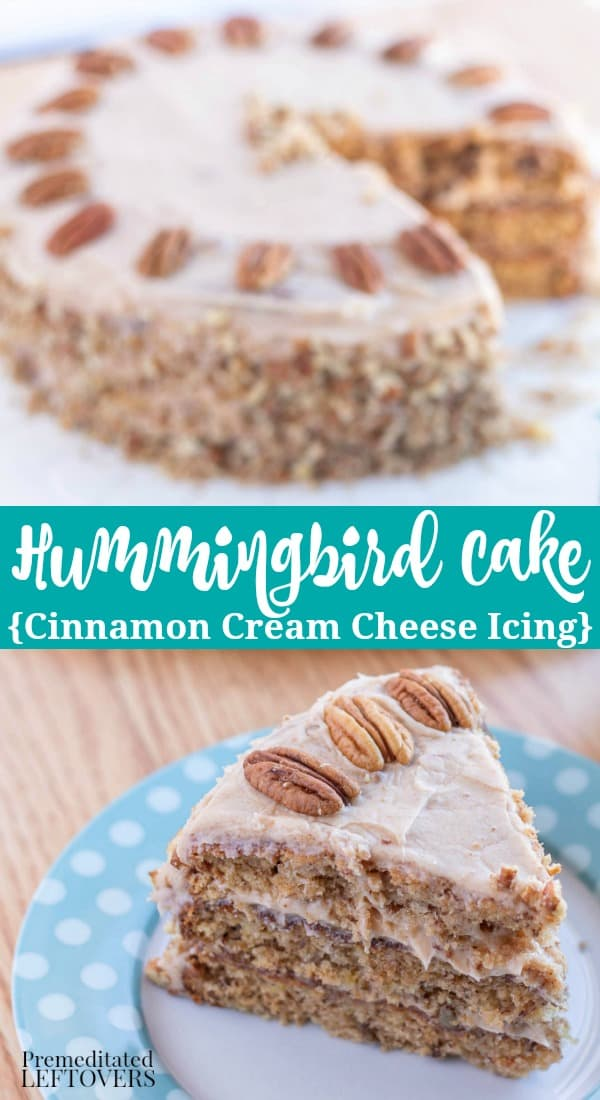 Hummingbird Cake Recipe with Cinnamon Cream Cheese Frosting