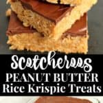 scotcheroos peanut butter rice krispie treats recipe