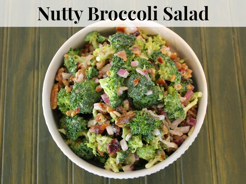 Quick and easy Recipe for Nutty Broccoli Salad