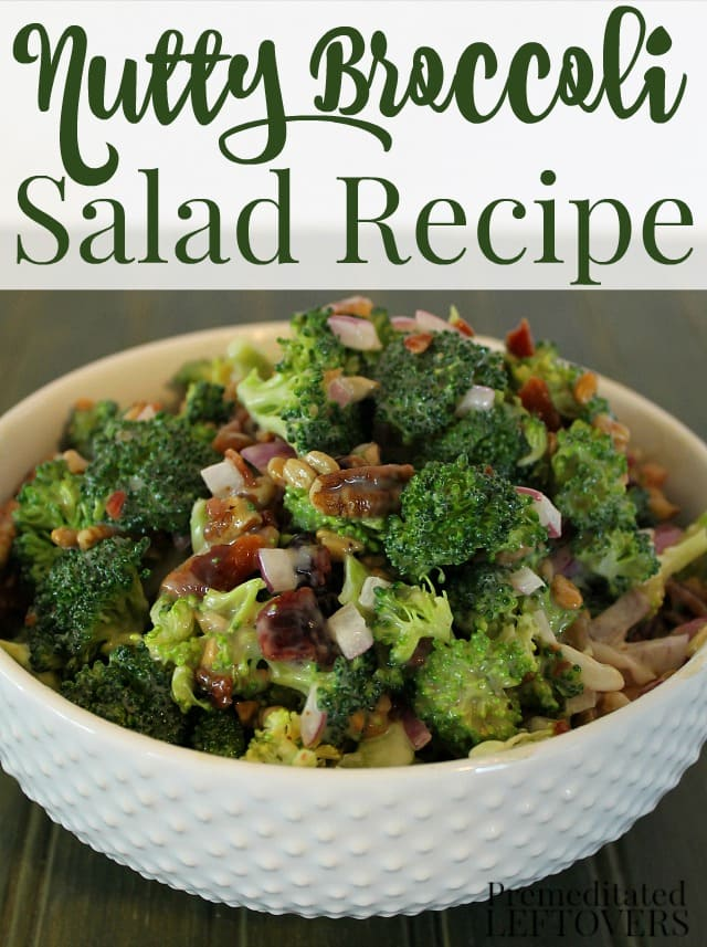 This delicious nutty broccoli salad recipe is a quick and easy side dish. The dressing uses a balsamic vinaigrette to add a unique flavor to the salad.