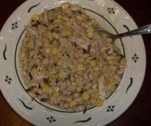 White Chili Recipe using leftover chicken and leftover rice