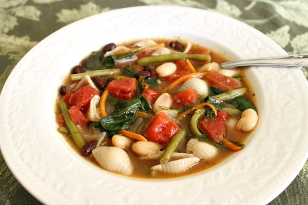 Minestone Soup Recipe - An Olive Garden Copycat Recipe using fresh vegetables and herbs