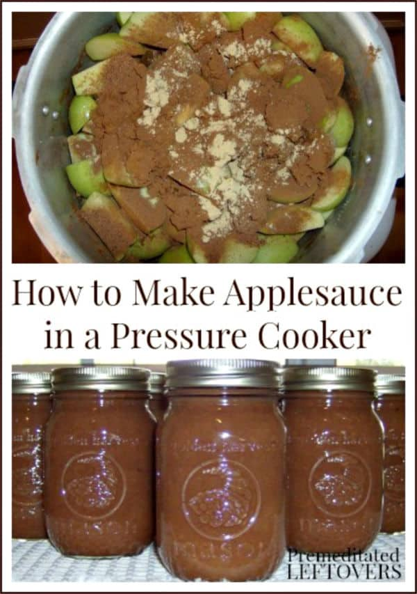 Pressure cooker applesauce recipe without sugar.