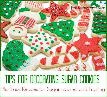 tips for decorating sugar cookies sugar cookie and frosting recipe - Pictures Of Decorated Christmas Sugar Cookies