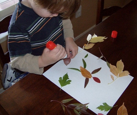 Frugal Fun Art Project Using Fall Leaves