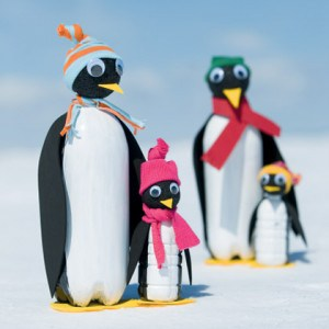 How to make penguins from recycled soda bottles