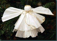 How to make an angel with a coffee filter