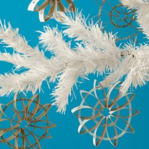 How to make snow flakes with toilet paper rolls