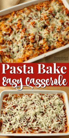 A kid-friendly pasta bake recipe.