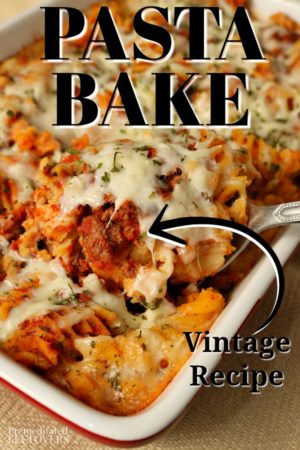 pasta bake recipe with spaghetti sauce and cheese