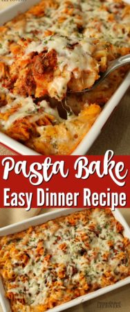 This pasta bake recipe is an easy dinner that the whole family will love!