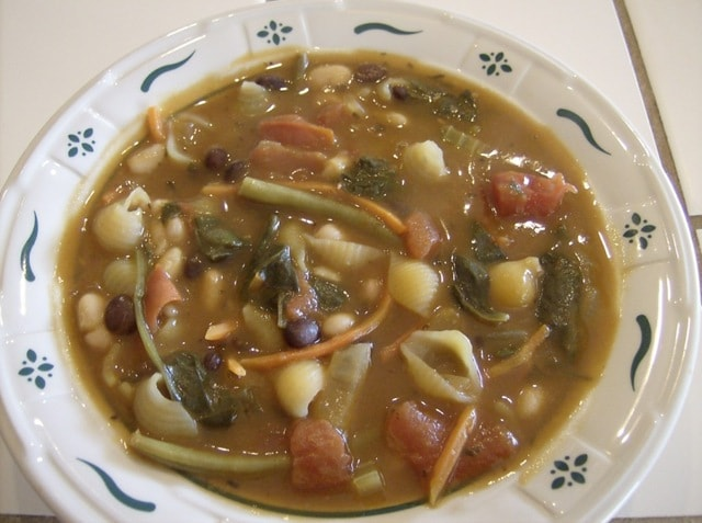 Minestrone Soup With Quinoa Pasta