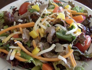Southwest Steak Salad with Honey Lime Dressing