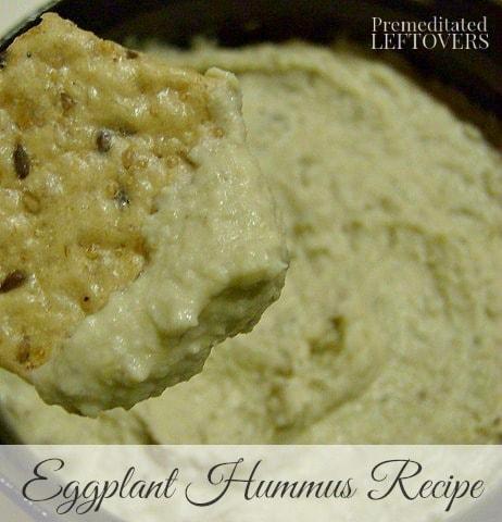 Homemade Roasted Eggplant Hummus Recipe