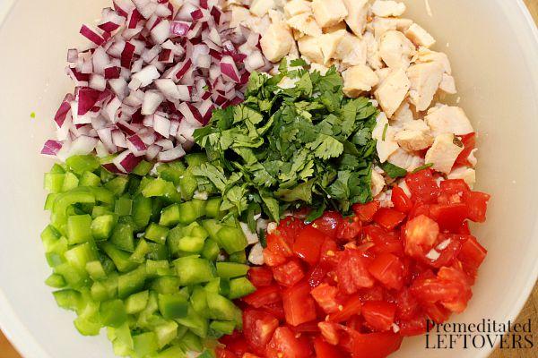 Ingredients for Fiesta Chicken Salad Recipe