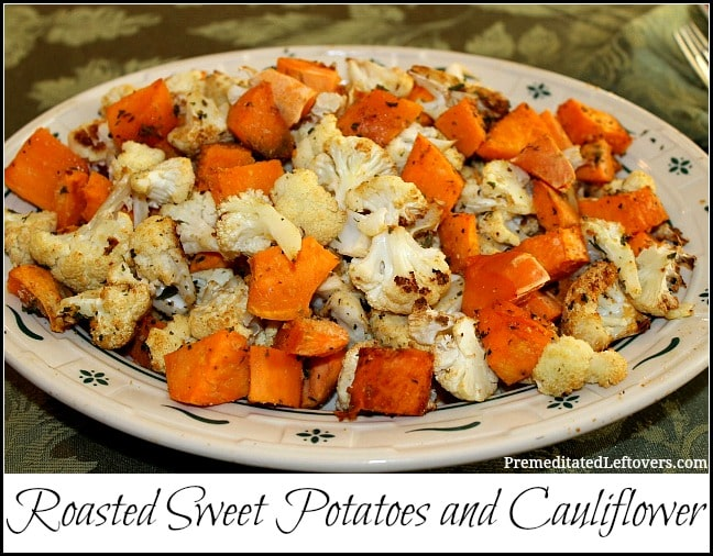 Roasted Sweet Potatoes and Cauliflower Recipe