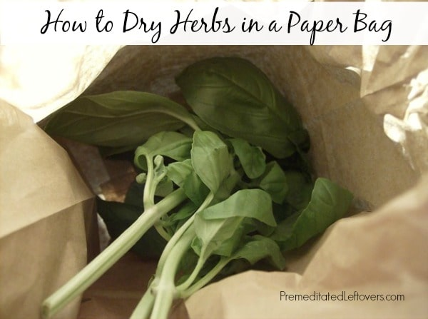 how to dry herbs in a paper bag