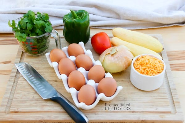 Ingredients for the Fiesta Egg Puffs recipe.