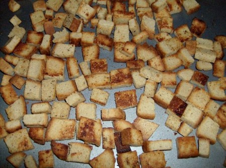 how to make croutons softer