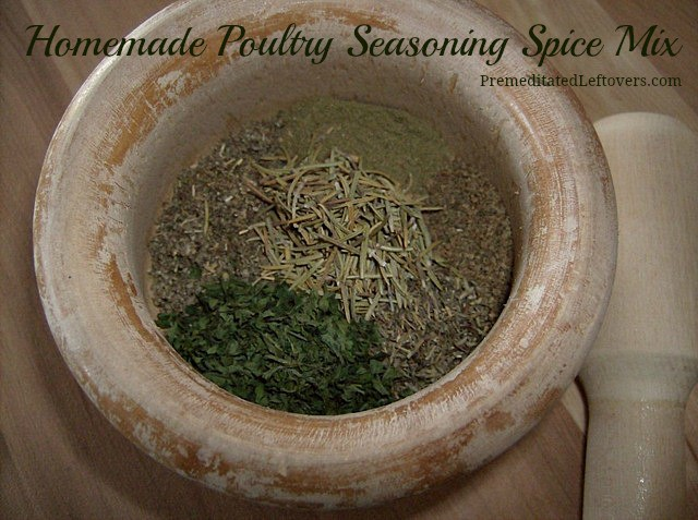 How to Make Poultry Seasoning Mix - This easy and frugal poultry seasoning mix recipe uses spices commonly found in your spice rack.