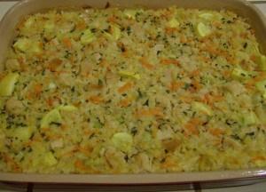 Turkey Vegetable Rice Casserole - A Leftover Turkey Recipe