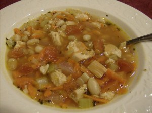 Tuscan Turkey Soup  recipe made with Leftover Turkey
