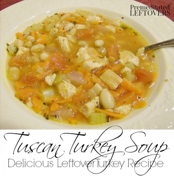 Tuscan Turkey Soup Recipe - This quick and easy recipe for Tuscan Turkey Soup is a delicious (and healthy) way to use up your leftover turkey.