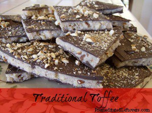 homemade toffee recipe with chocolate and nuts