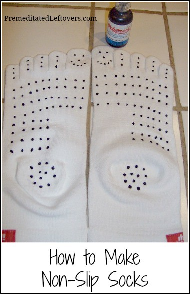How to Make Non-Slip Socks Using Puff Paint