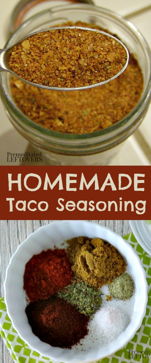 homemade taco seasoning mix recipe - A quick and easy taco spice mix recipe