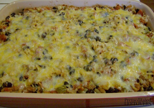 Chili Pasta Bake - a tasty way to enjoy leftover chili