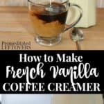 how to make french vanilla coffee creamer - recipe and tips