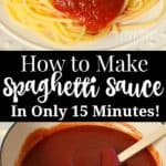 How to make spaghetti sauce in only 15 minutes using canned tomato sauce and pantry spices.