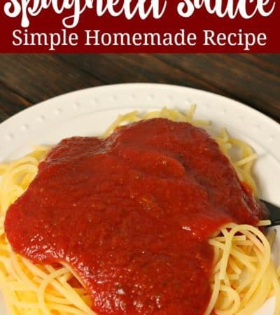 This quick and easy spaghetti sauce recipe is made with pantry staples.