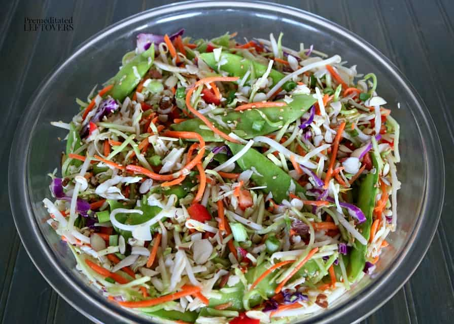 Delicious homemade Asian Coleslaw recipe with Asian slaw dressing.