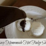 Easy Homemade Hot Fudge Sauce Recipe- You can make this quick and easy hot fudge sauce recipe with just a few ingredients from your pantry.