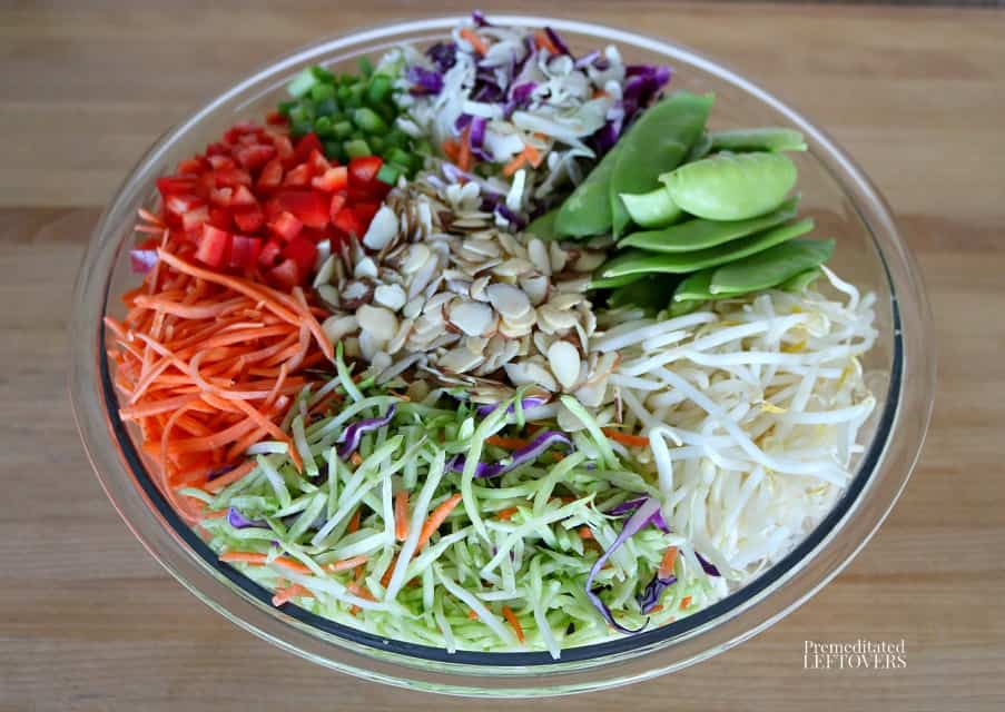 Ingredients for Asian Coleslaw Recipe