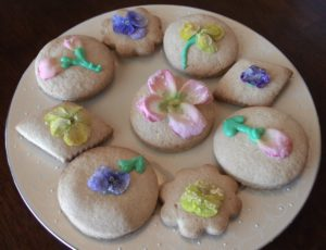Use homemade candied flowers to decorate baked goods
