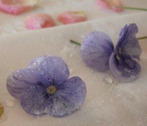 How to Make Candied Flowers - egg free recipe