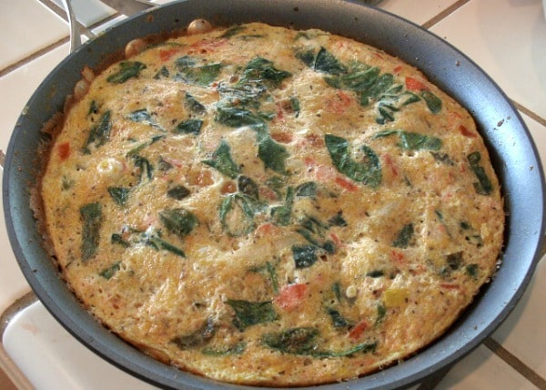 Mediterranean Garden Frittata - A vegetable frittata with Italian herbs