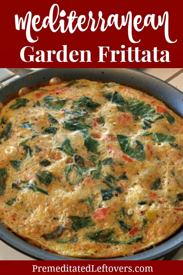 Mediterranean Garden Frittata - Quick and Easy Vegetable Frittata Recipe with Italian spices, spinach tomatoes and squash.