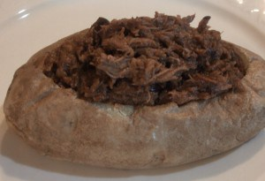 Barbecue Beef Stuffed Potatoes Recipe