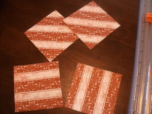 Making coasters from tiles and scrap paper
