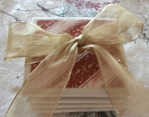 Coasters made from Tiles makes a frugal DIY gift