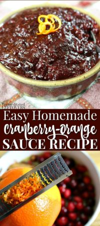 This easy homemade cranberry-orange sauce recipe tastes like Trader Joe's Cranberry-Orange Relish.