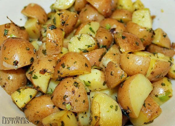 How to cook red potatoes on the stove top.