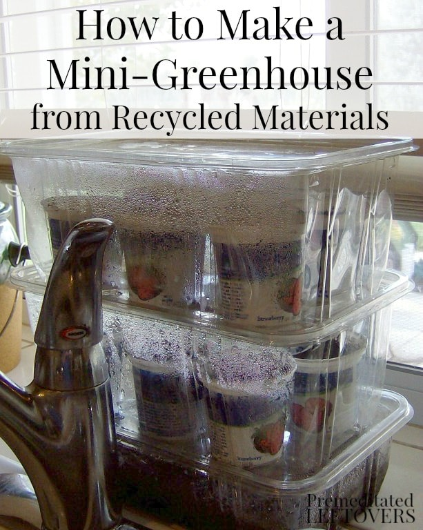 How to make a mini-greenhouse from recycled materials. A quick and easy tutorial for making a DIY Mini-Greenhouse for starting seedlings.