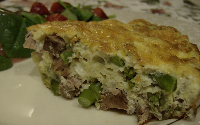 Steak and Asparagus Frittata Recipe