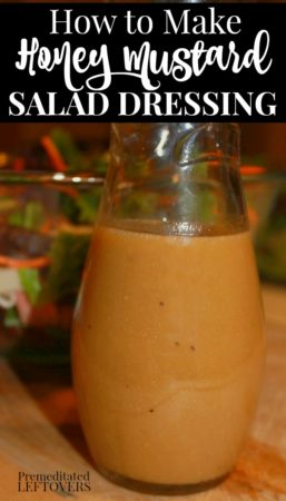 How to make honey mustard salad dressing from pantry staples.