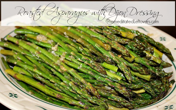 Oven Roasted Asparagus with Dijon Dressing